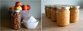 apple almond jam ingredients + batch