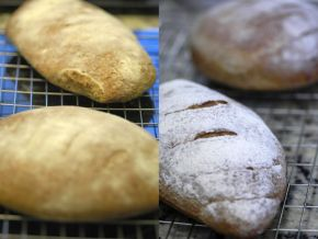 ...that ended up looking like this (left). On the right is the chef's (perfect) version.