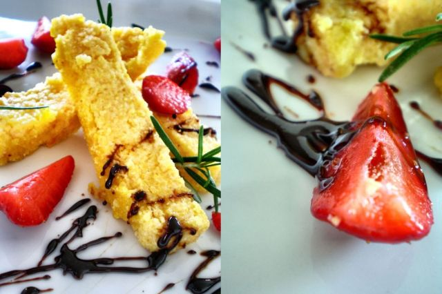 Polenta Slices + Balsamic Strawberries 04