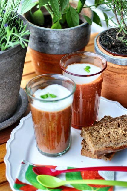 Tomato Soup + Basil Foam 04