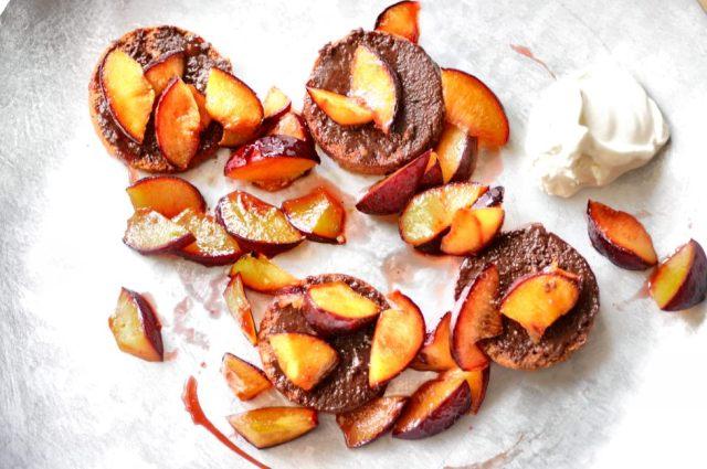 Hazelnut Cake + Roasted Plums 02