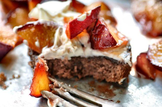 Hazelnut Cake + Roasted Plums 03