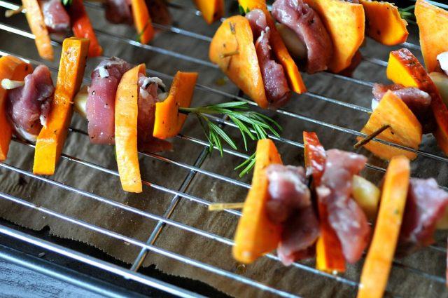 Pork Pumpkin Potato Skewers 022