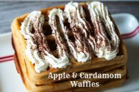 Apple & Cardamom Waffles