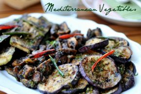 Marinated Aubergines, Zucchini & Mushrooms
