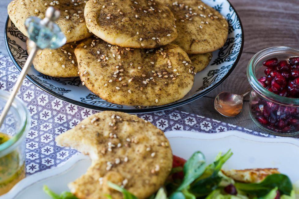 Citrusy Salad & Manakiseh Flatbread | Dinner for (n)one