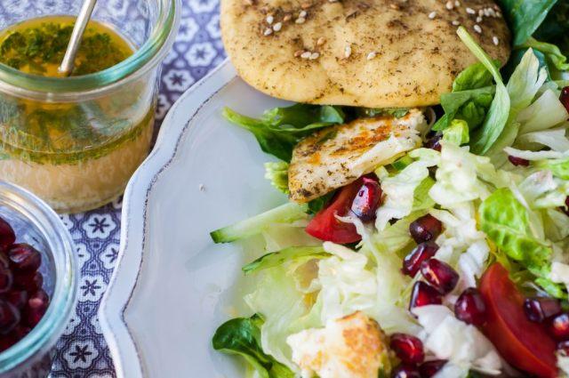Citrusy Salad + Manakiseh 06