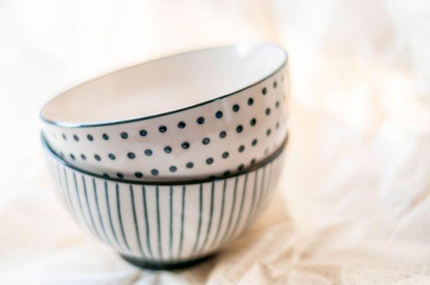 DFN - Living - Black + White Bowls