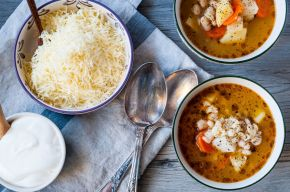 Veg Soup + Cracked Wheat 01
