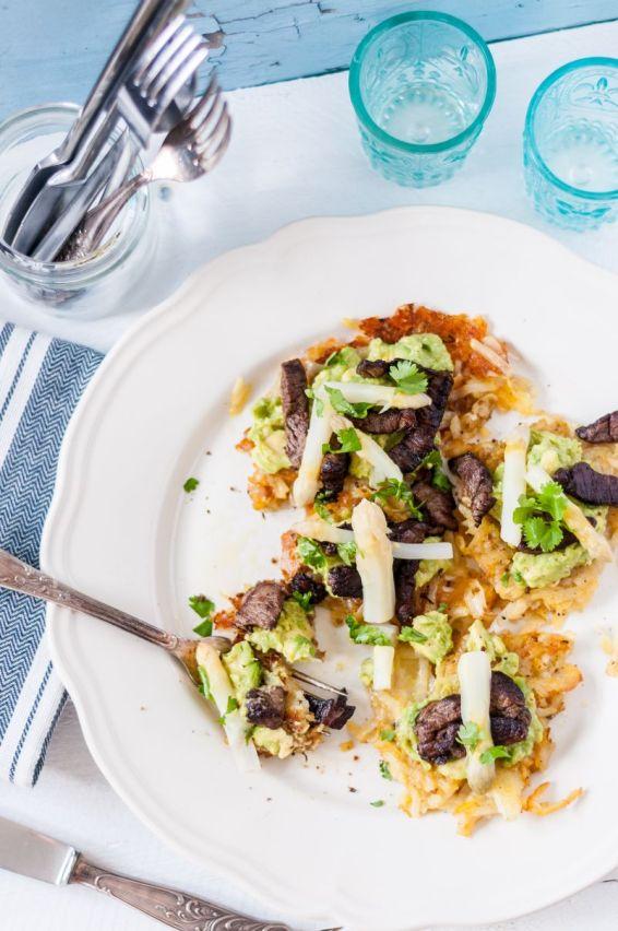Asparagus + Steak Potato Cakes 04