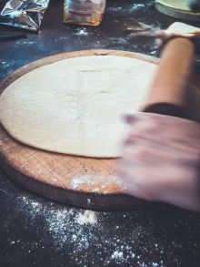 Rolling dough for onion cakes