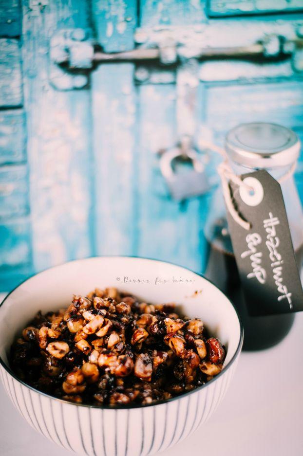 how to make hazelnut syrup